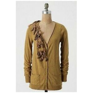 ANTHROPOLOGIE Tied Trails Cashmere Cardigan